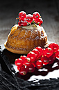Mini Gugelhupf filled with ricotta and cream cheese garnished with red currants - CSF024947