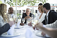 Business people having business lunch in restaurant - ZEF004169