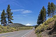 USA, Oregon, highway and Mount Hood - FOF007820