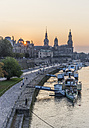 Germany, Dresden, city view at evening twilight - PVC000303