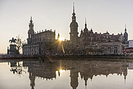Germany, Dresden, court church and  palace at morning twilight - PVC000326