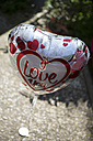 Heart shaped helium balloon with writing 'I Love You' - ASCF000059