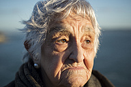 Portrait of an old woman outdoors - RAEF000092