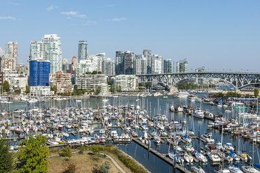 Canada, British Columbia, Vancouver, skyline with Granville Street Bridge and False Creek - KEBF000016