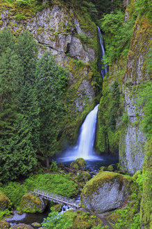 USA, Oregon, Multnomah County, Columbia River Gorge, Wahclella Falls - FOF007907