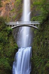 USA, Oregon, Multnomah County, Columbia River Gorge, Bridge over Multnomah Falls - FOF007909