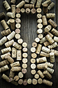 Wine corks forming wine glass - AS005506