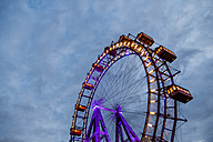 Austria, Vienna, ferris wheel on Prater at blue hour - EJWF000711