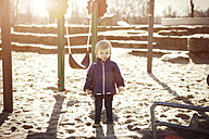 Germany, Oberhausen, toddler on playground - GDF000701