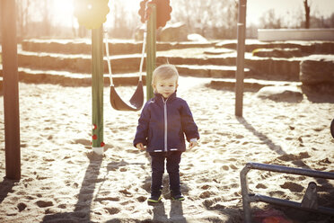 Germany, Oberhausen, toddler on playground - GDF000701