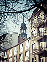 Germany, Hamburg, view to houses with spire of St. Michaelis Church in the background - KRPF001394