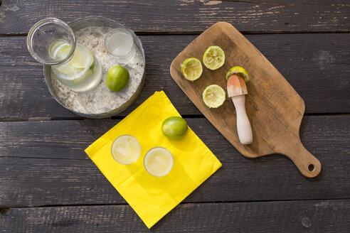 Preparing of homemade lime lemonade - SARF001559