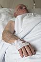Hand of a senior man after surgery - RAEF000103