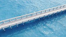 Wooden boardwalk, 3D Rendering - UWF000415