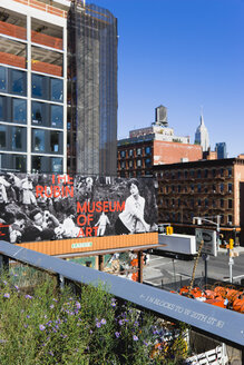 USA, New York, Manhattan, section of the Chelsea Grasslands on the High Line Park on a disused elevated railroad spur - PSF000677