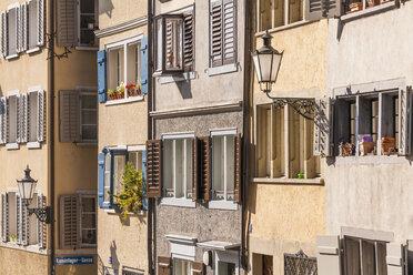 Switzerland, Zurich, Old town, Fortunagasse, old buildings - WDF003009