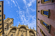 Spain, Andalusia, Granada, Granada Catedral and contrail - THAF001340