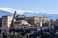 Spain, Andalusia, Granada, View to Alhambra - THAF001354