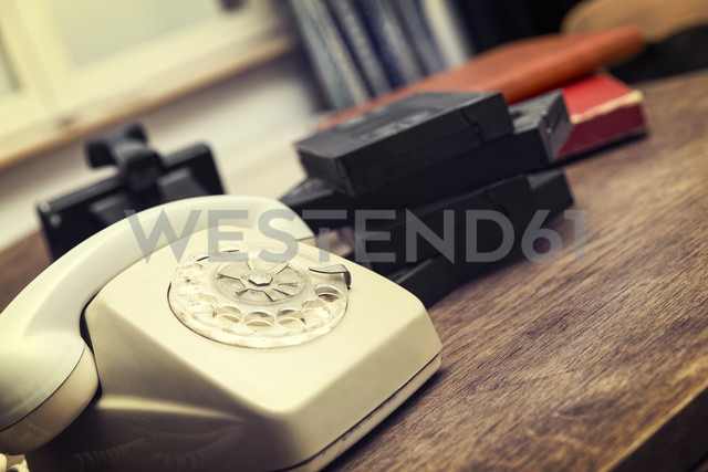 Old telephone and video tapes - MIDF000221