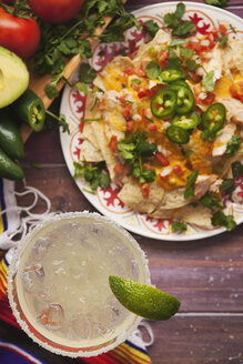 Margarita and chicken nachos, Cinco De Mayo party - SELF000006