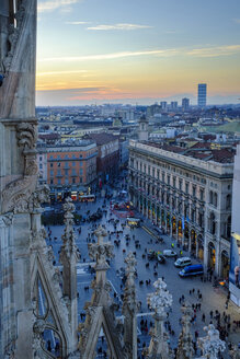Italy, Milan, view from cathedral to urban construction project City life - HAMF000026