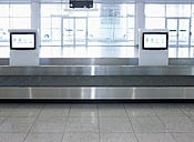 Germany, Munich, empty baggage conveyor belt at the airport - ED000142