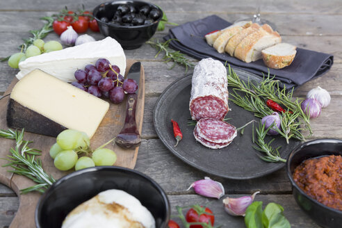 Variety of Italian antipasti - SARF001608
