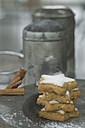 Stack of home-baked cinnamon stars - ASF005534