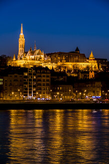 Hungary, Budapest, Fisherman's Bastion in the evening - EJWF000734