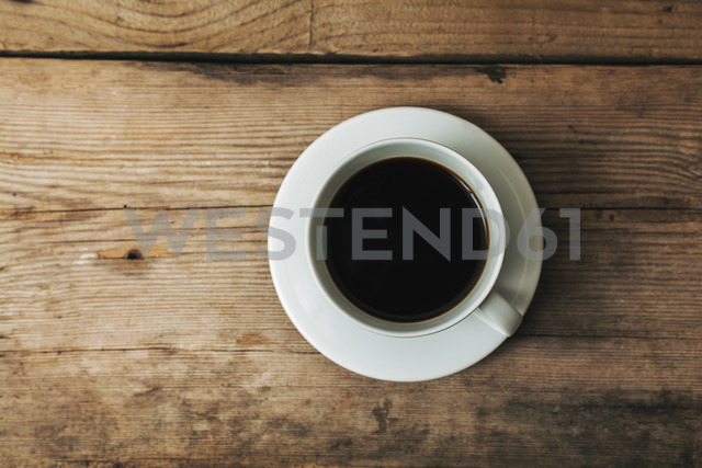 Cup of black coffee on wood - BZF000117