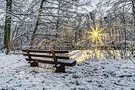 Germany, Frankfurt, city park in winter - TIF000063