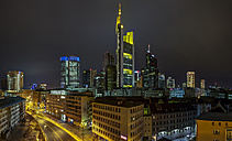 Germany, Frankfurt, skyline at night - TIF000068