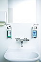 Disinfecting and soap dispenser at sink - DISF001633