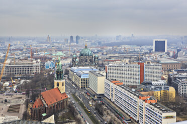 Germany, Berlin, city view with Berliner Dom and St. Mary's Church - VTF000406