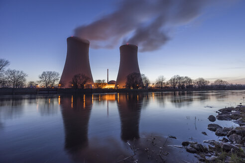 Germany, Lower Saxony, Grohnde, Grohnde Nuclear Power Plant - PVCF000379