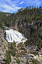 USA, Yellowstone National Park, View to Gibbon Falls - FOF007989