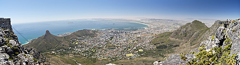 South Africa, panorama view from the top of Table Mountain to Cape Town - CLPF000085
