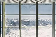 Germany, Bavaria, view through window from Zugspitze - FLF000857