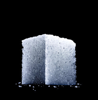 low angle studio shot of a sugar cube - RAMF000057
