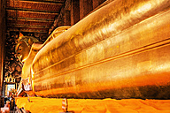 Thailand, Bangkok, Reclining Buddha at temple Wat Pho - LC000003