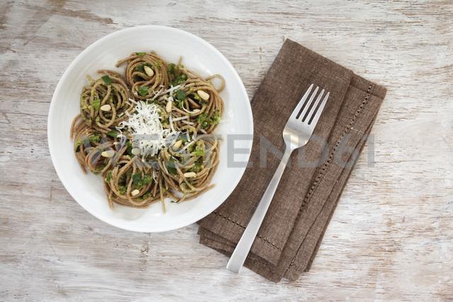 Whole-grain spelt spaghetti with ramson pesto - EVGF001653