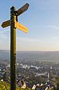 Switzerland, sign post above Stein am Rhein - KEBF000137