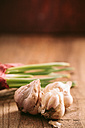 Garlic and onion on wood - BZF000136
