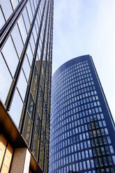 Germany, Dortmund, facades of two office buildings - HOHF001338