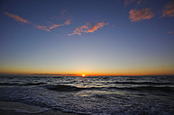 Germany, Mecklenburg-Western Pomerania, Fischland-Darss-Zingst, Baltic Sea at sunset - JTF000657