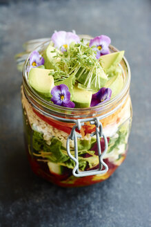 Mixed healthy salad in jar - HAWF000772
