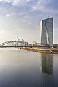 Germany, Hesse, Frankfurt, ECB Tower at Main river - NKF000234
