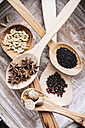 Different spices on wooden spoons - IPF000213