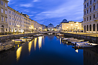 Italy, Trieste, Canal Grande in the evening - DAWF000352