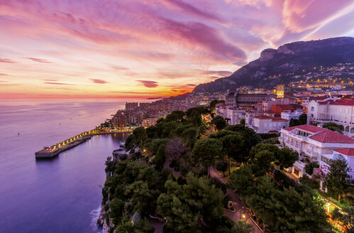 Monaco, Monte Carlo at dusk - DAWF000361